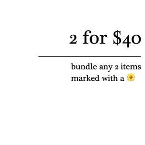 2 for $40! Click for details